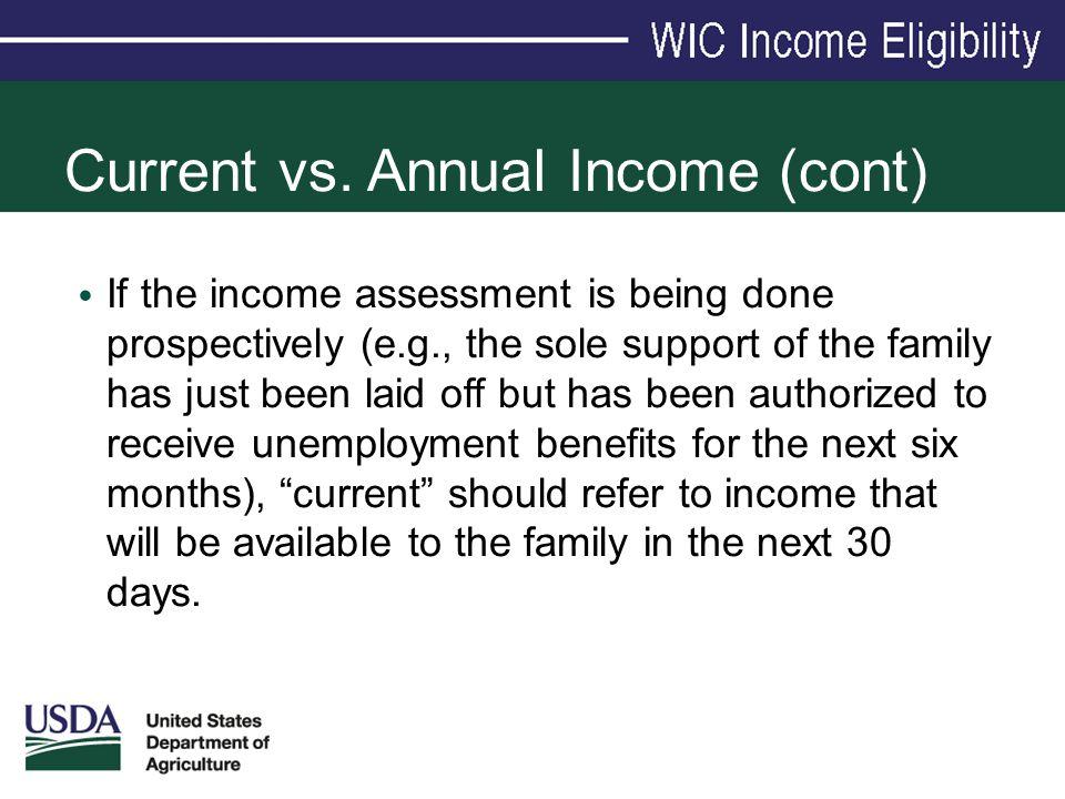 Current vs. Annual Income (cont)