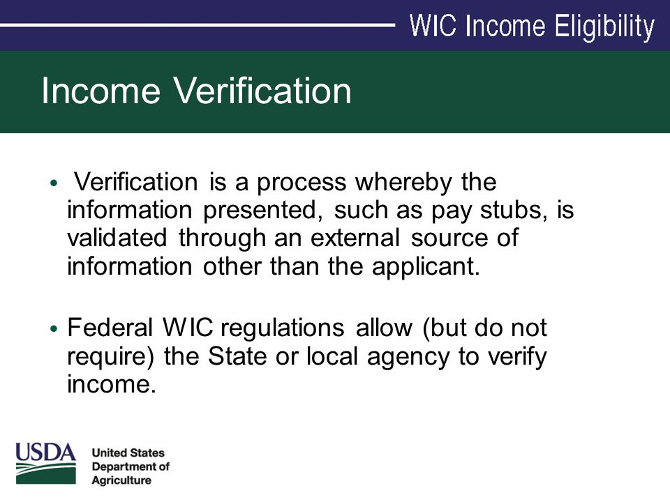 Income Verification