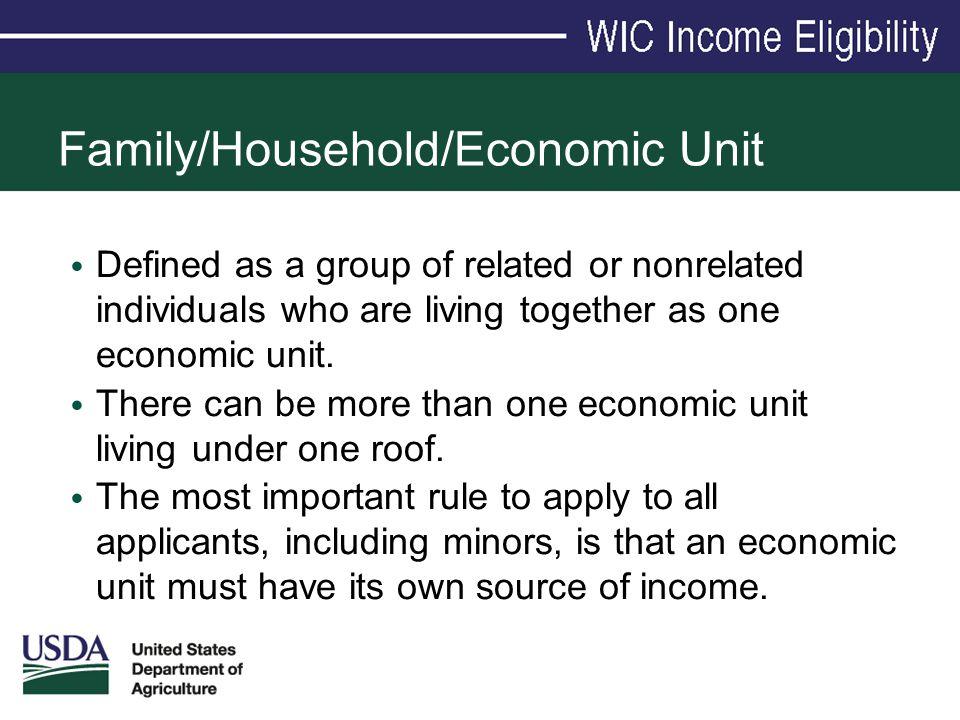 Family/Household/Economic Unit