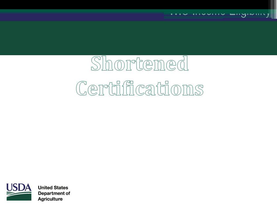 Shortened Certifications