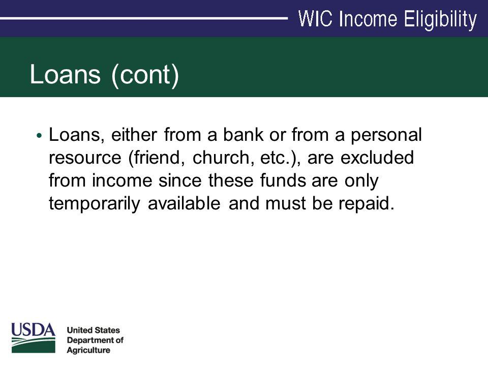 Loans (cont)