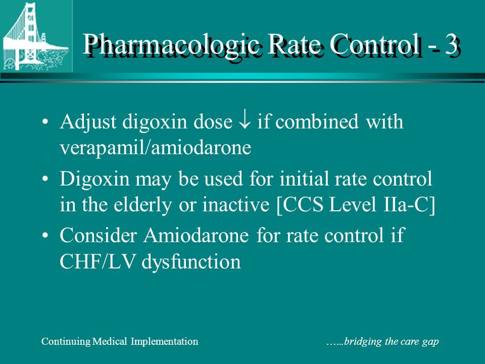 Pharmacologic Rate Control - 3