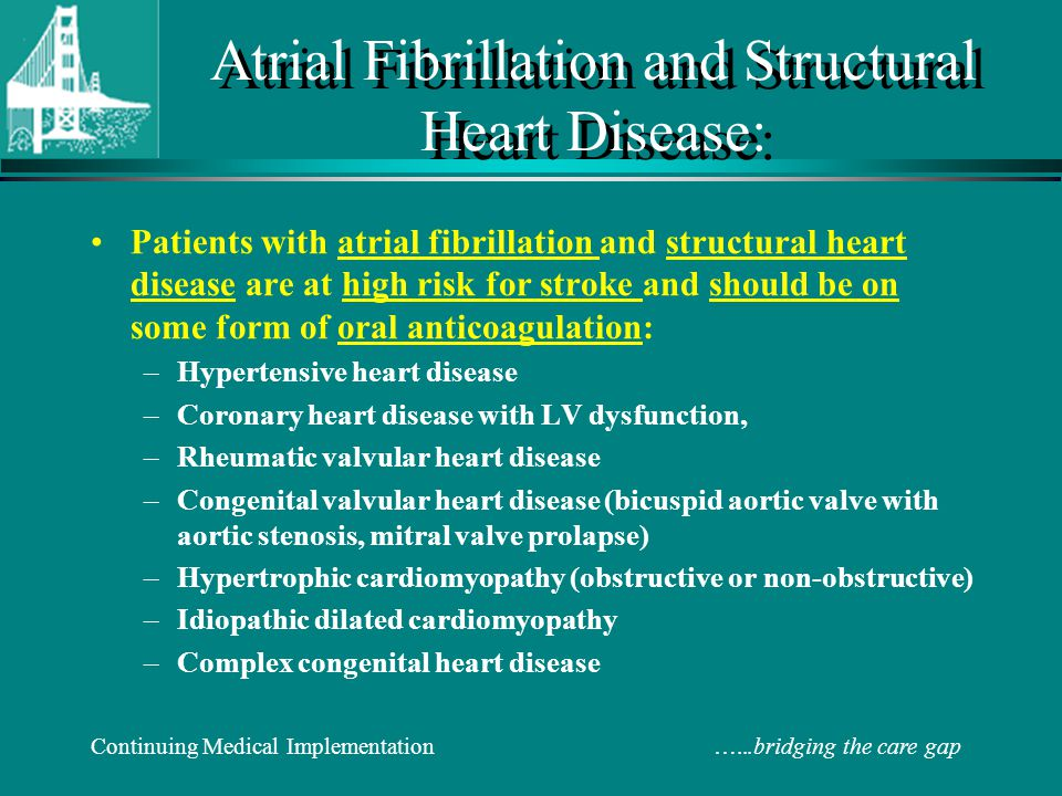 Atrial Fibrillation and Structural Heart Disease: