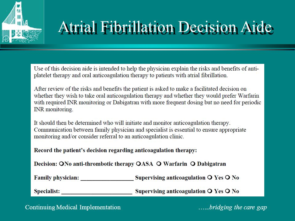 Atrial Fibrillation Decision Aide