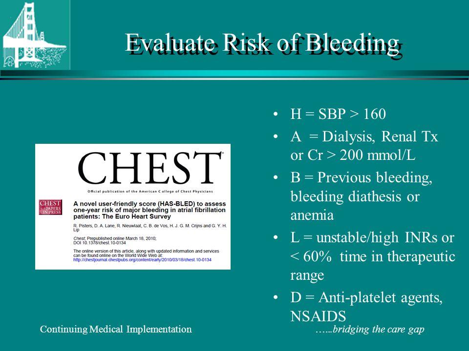 Evaluate Risk of Bleeding