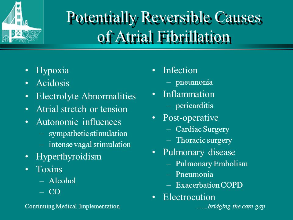 Potentially Reversible Causes of Atrial Fibrillation