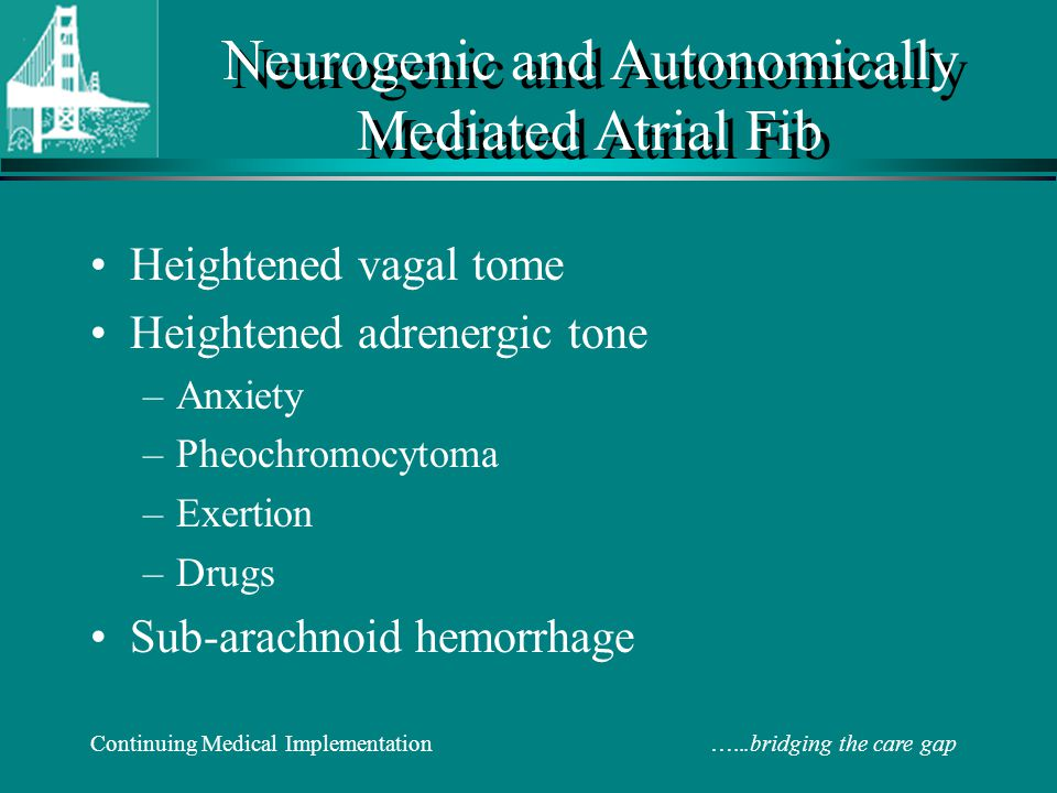 Neurogenic and Autonomically Mediated Atrial Fib