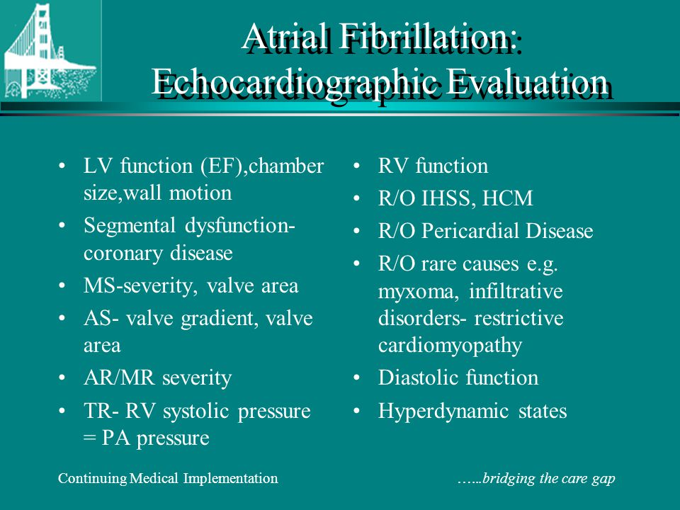 Atrial Fibrillation: Echocardiographic Evaluation
