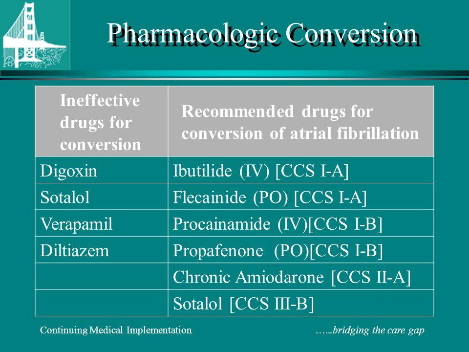 Pharmacologic Conversion