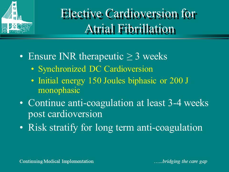 Elective Cardioversion for Atrial Fibrillation