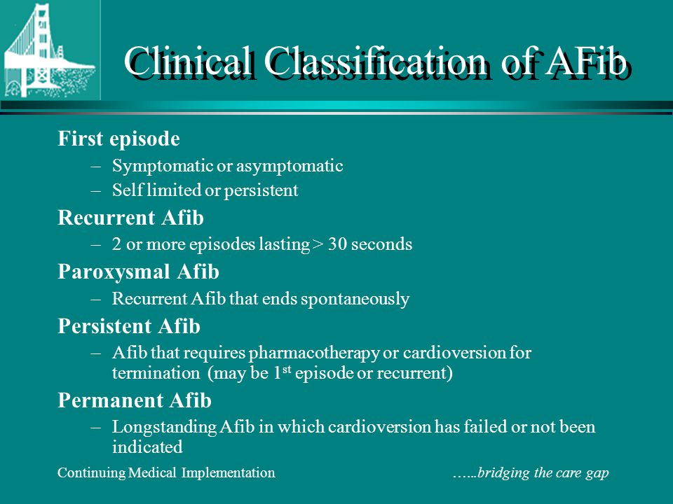 Clinical Classification of AFib