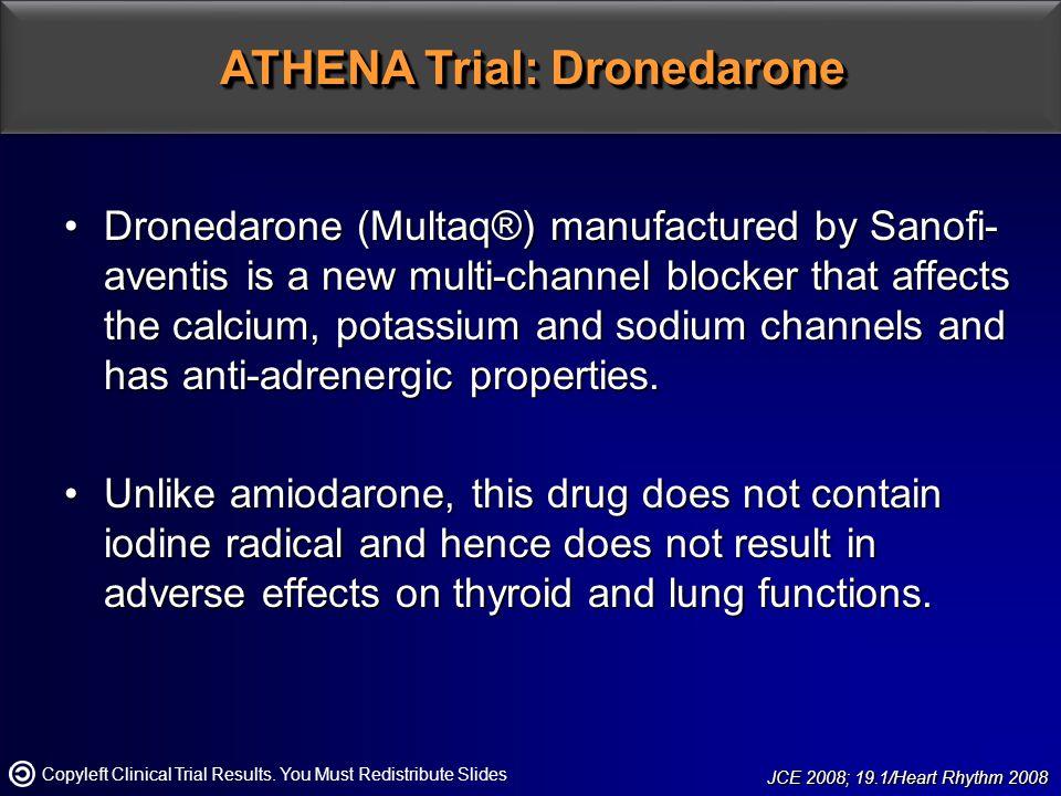 ATHENA Trial: Dronedarone