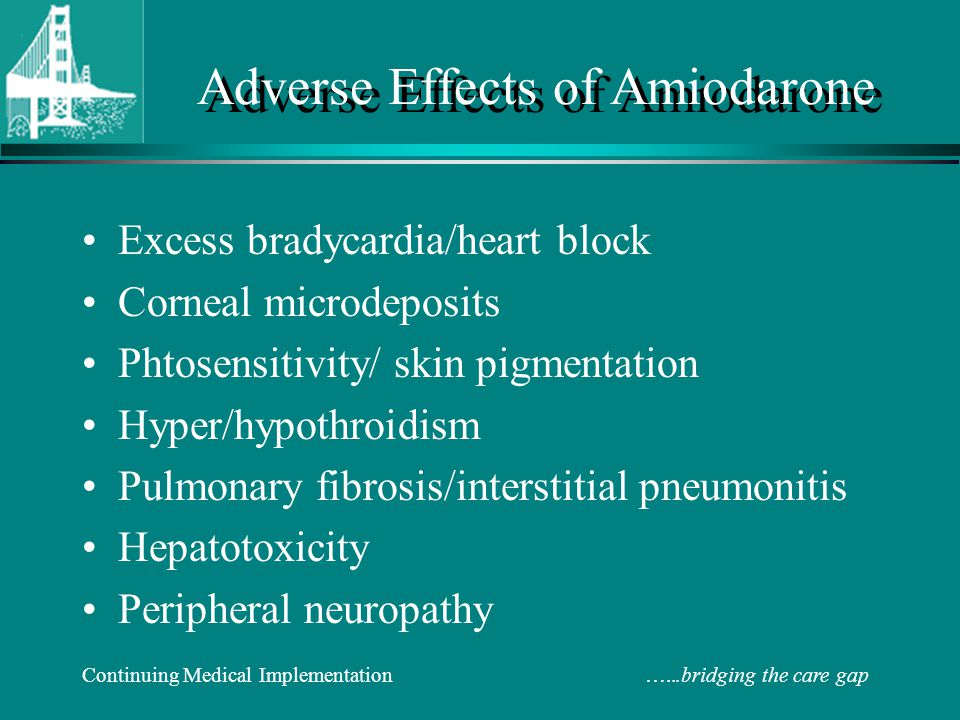 Adverse Effects of Amiodarone