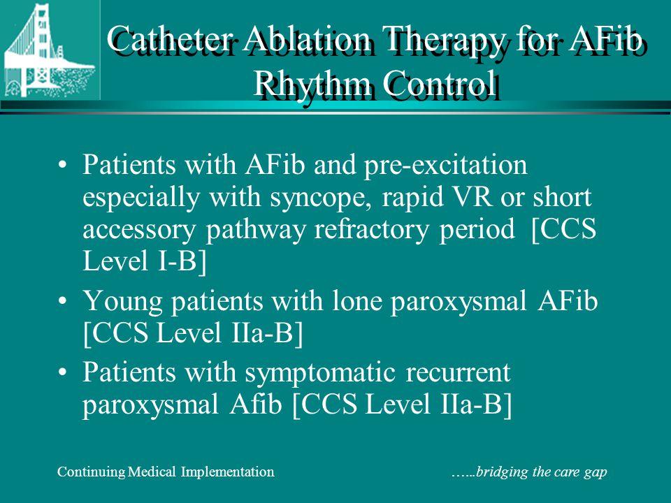 Catheter Ablation Therapy for AFib Rhythm Control