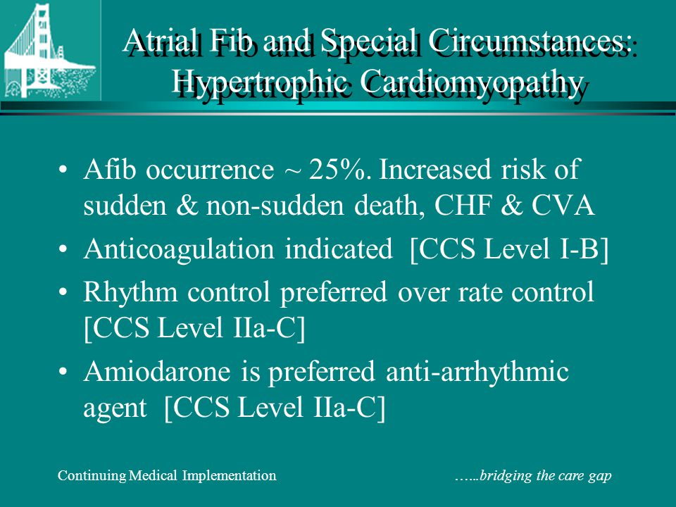 Atrial Fib and Special Circumstances: Hypertrophic Cardiomyopathy