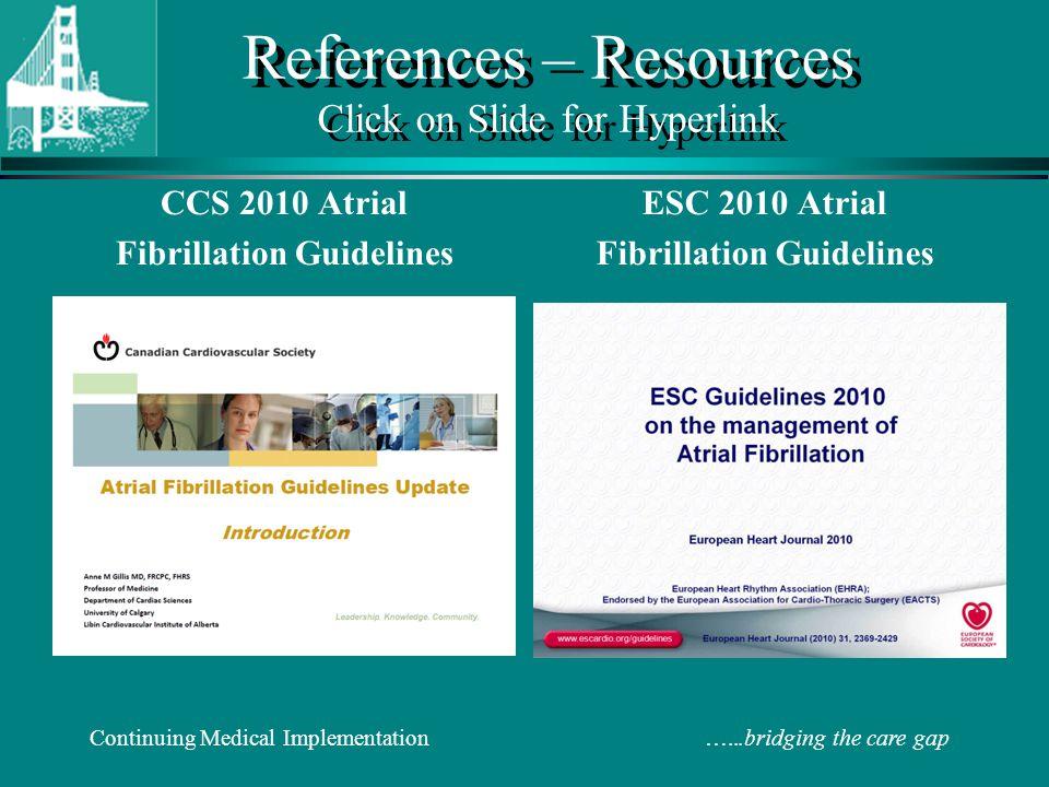 References – Resources Click on Slide for Hyperlink