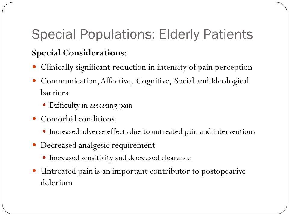 Special Populations: Elderly Patients
