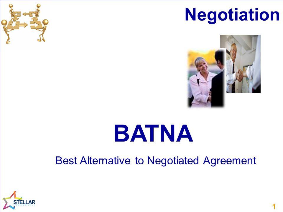 Best Alternative to Negotiated Agreement