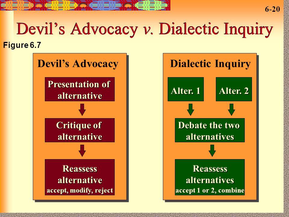 Devil's Advocacy v. Dialectic Inquiry