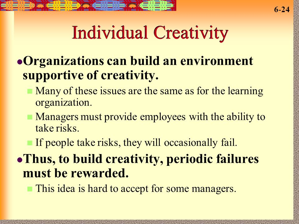Individual Creativity