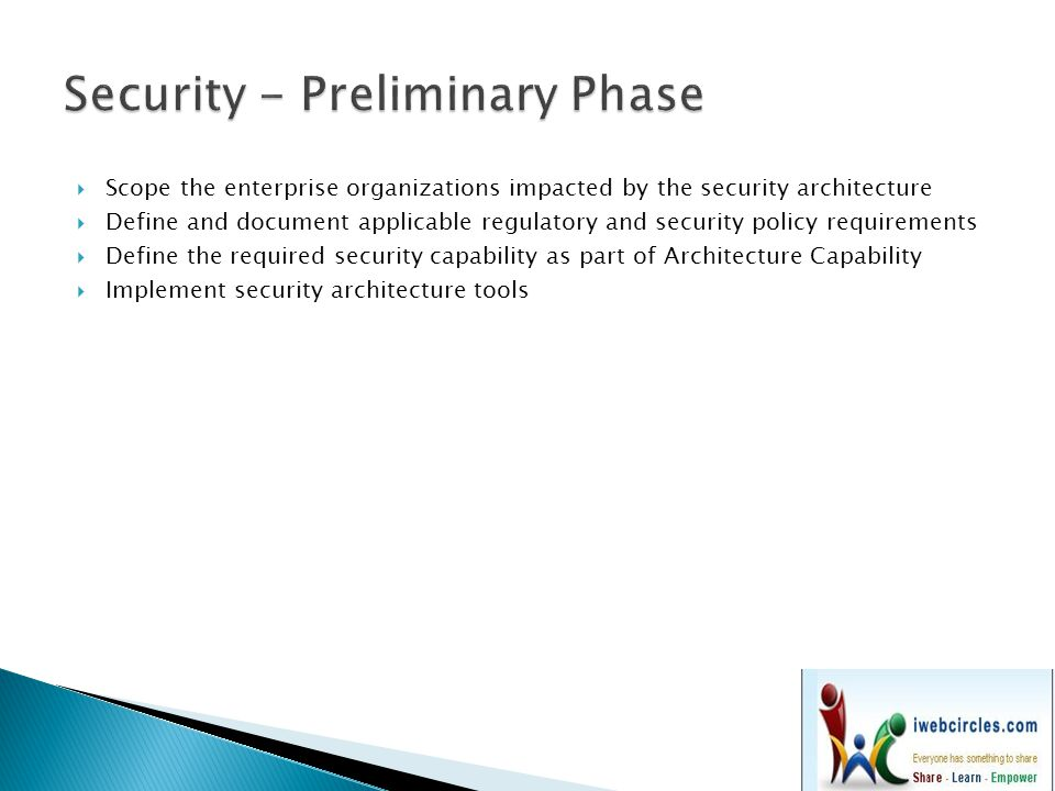 Security - Preliminary Phase