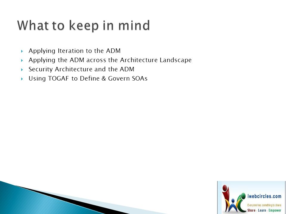 What to keep in mind Applying Iteration to the ADM