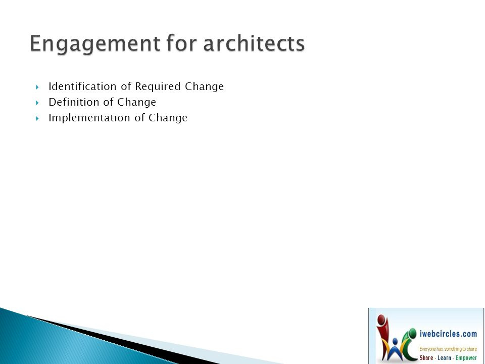 Engagement for architects
