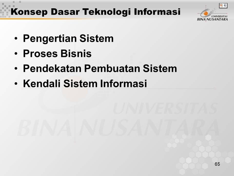 Pendekatan Pembuatan Sistem Kendali Sistem Informasi