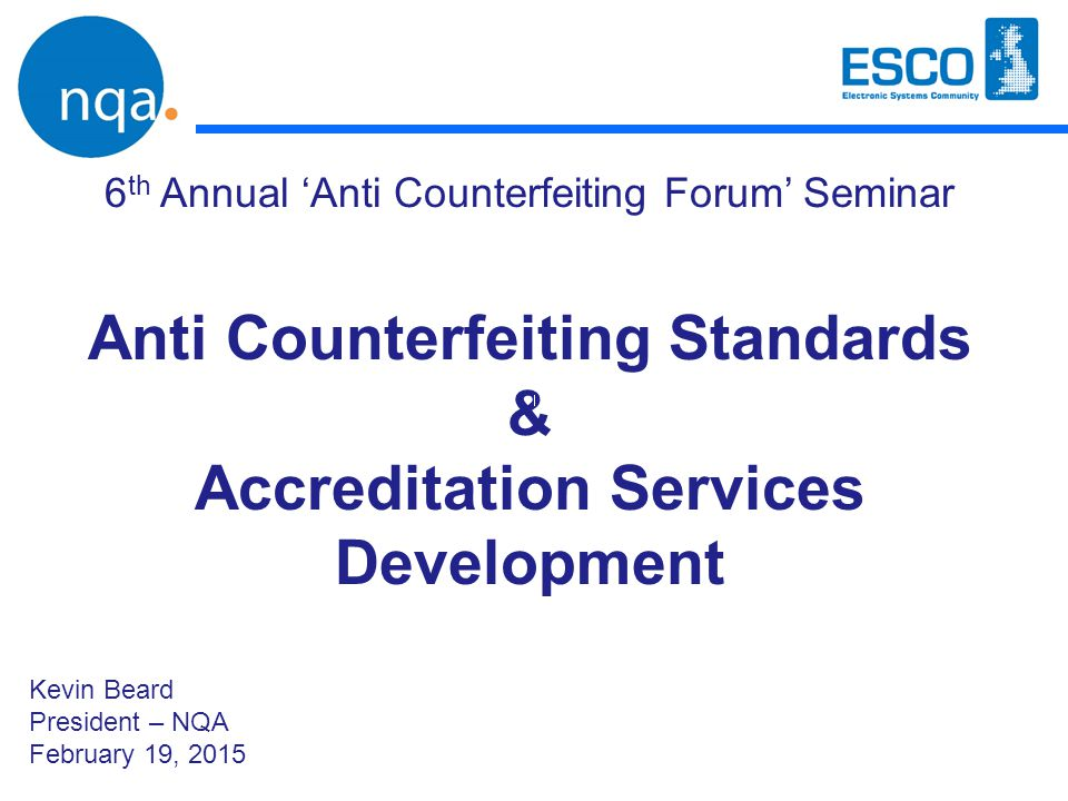 Anti Counterfeiting Standards Accreditation Services Development