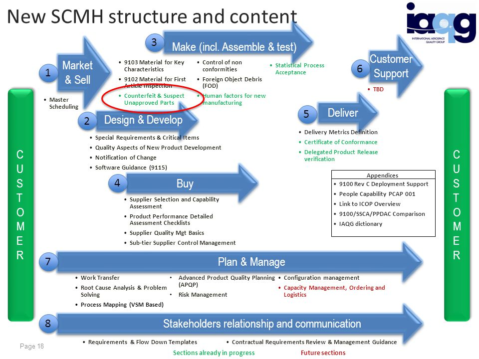 New SCMH structure and content