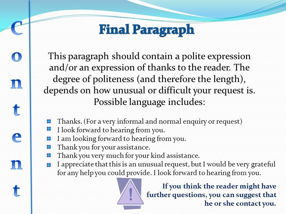 Content Final Paragraph