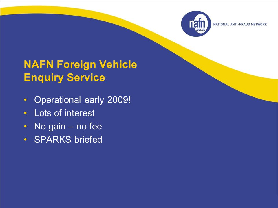 NAFN Foreign Vehicle Enquiry Service
