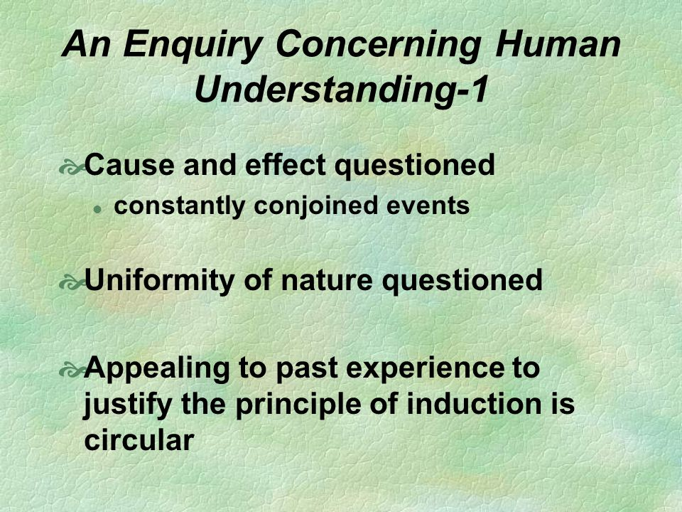 An Enquiry Concerning Human Understanding-1