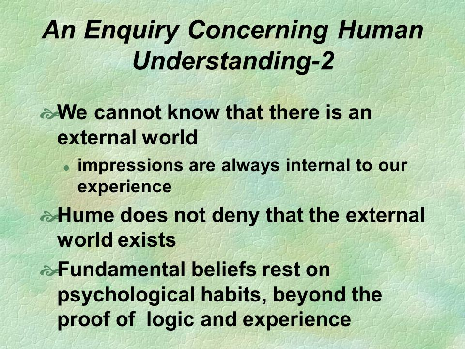 An Enquiry Concerning Human Understanding-2