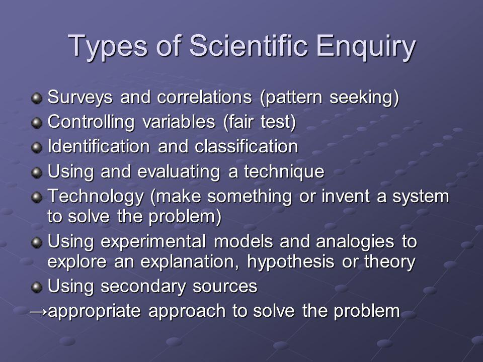 Types of Scientific Enquiry