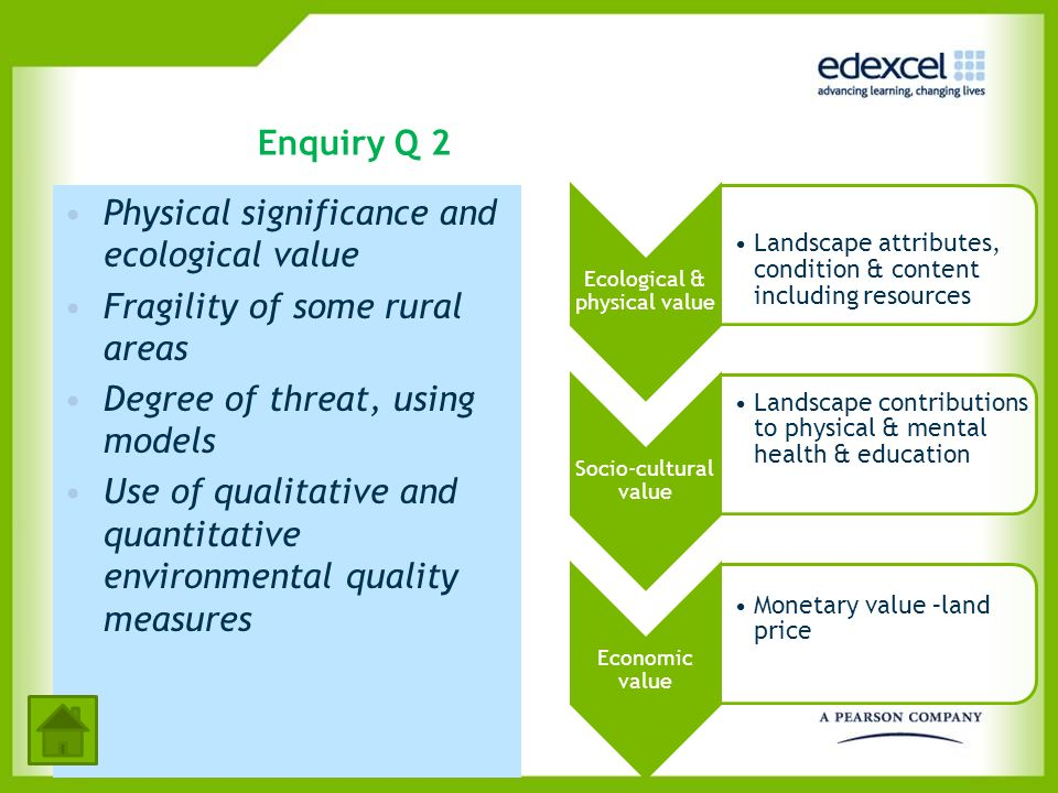 Ecological & physical value