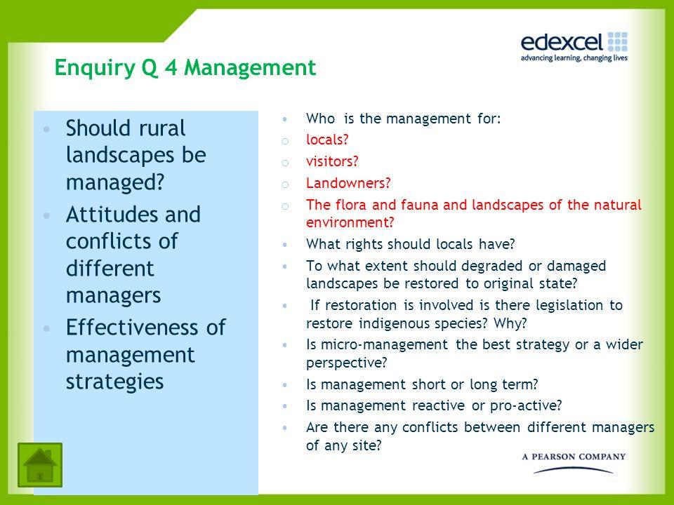 Should rural landscapes be managed