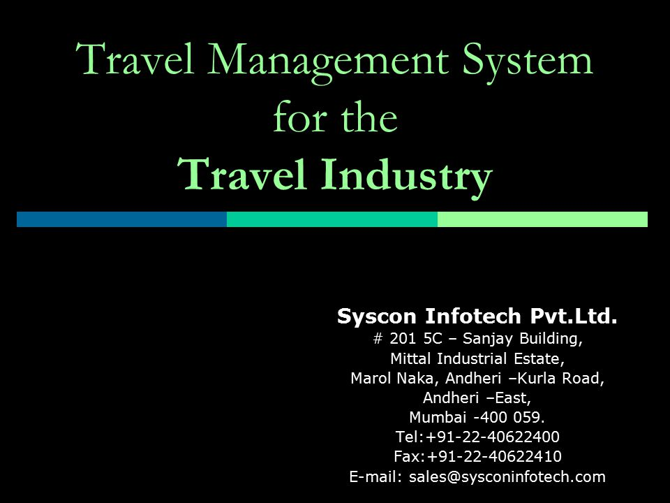 Travel Management System for the Travel Industry