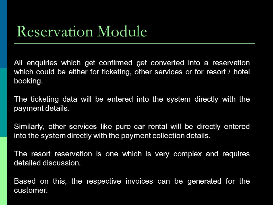 Reservation Module