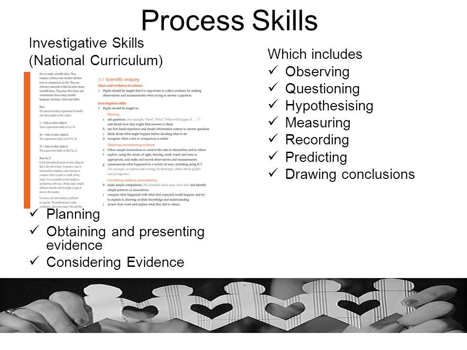 Process Skills Investigative Skills (National Curriculum)