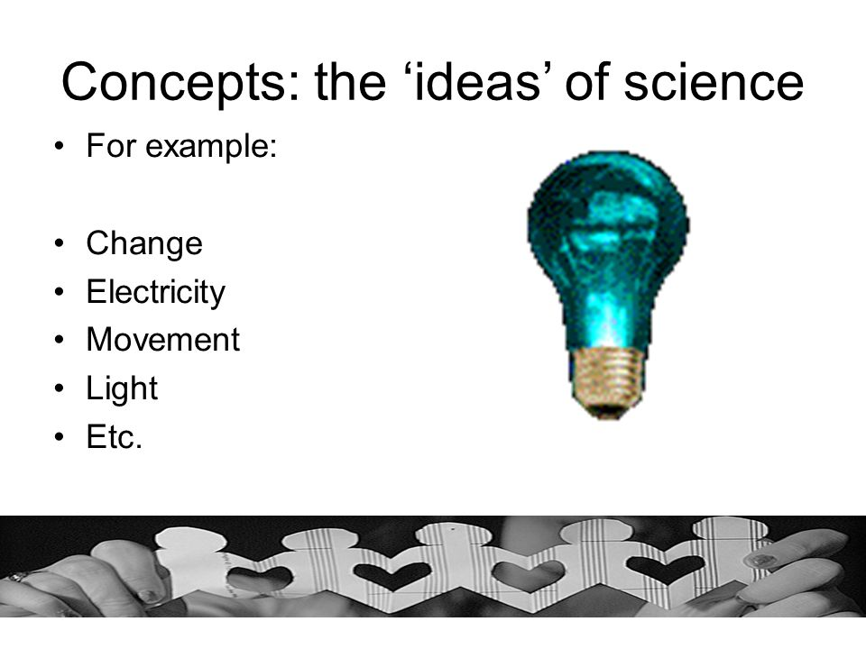 Concepts: the 'ideas' of science