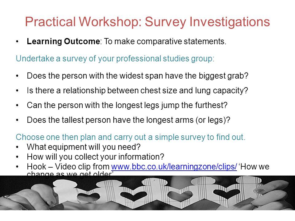 Practical Workshop: Survey Investigations