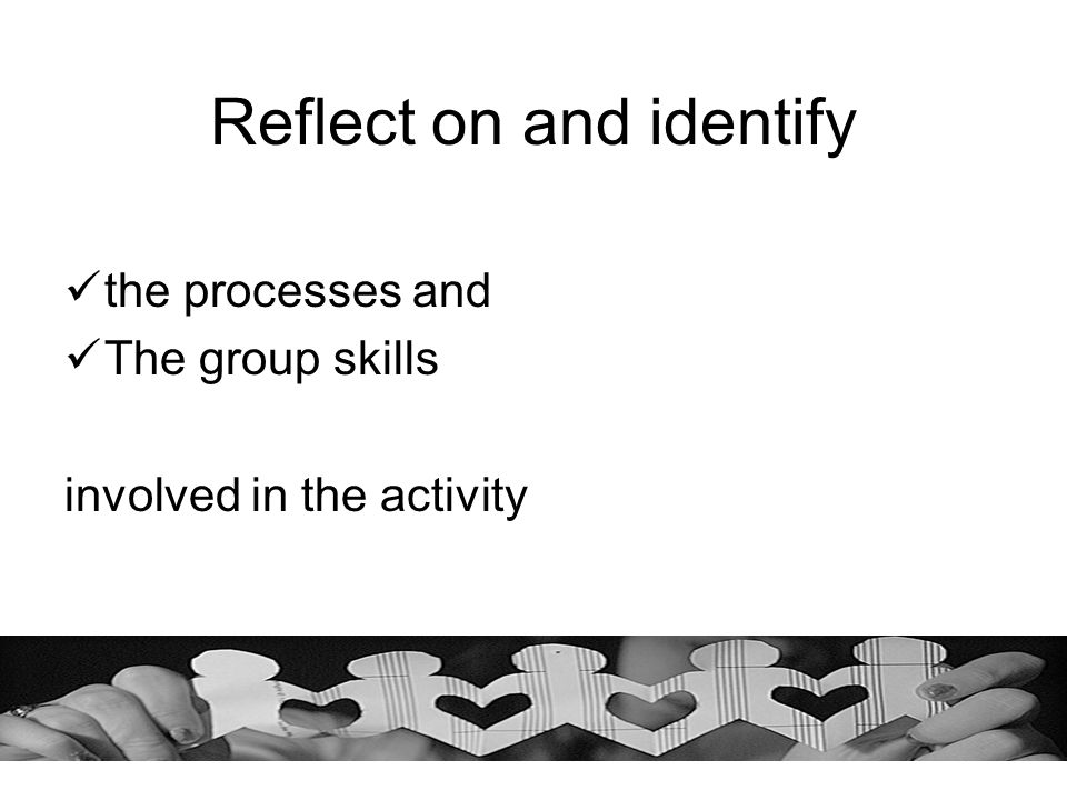 Reflect on and identify