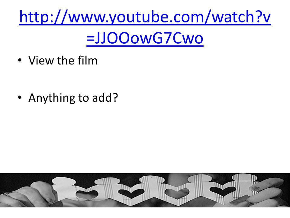 http://www.youtube.com/watch v=JJOOowG7Cwo View the film