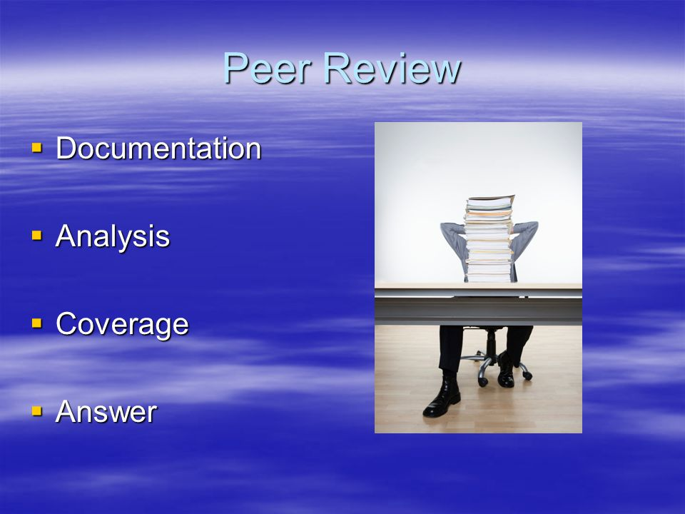 Peer Review Documentation Analysis Coverage Answer