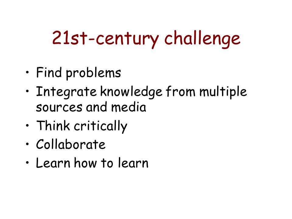 21st-century challenge Find problems