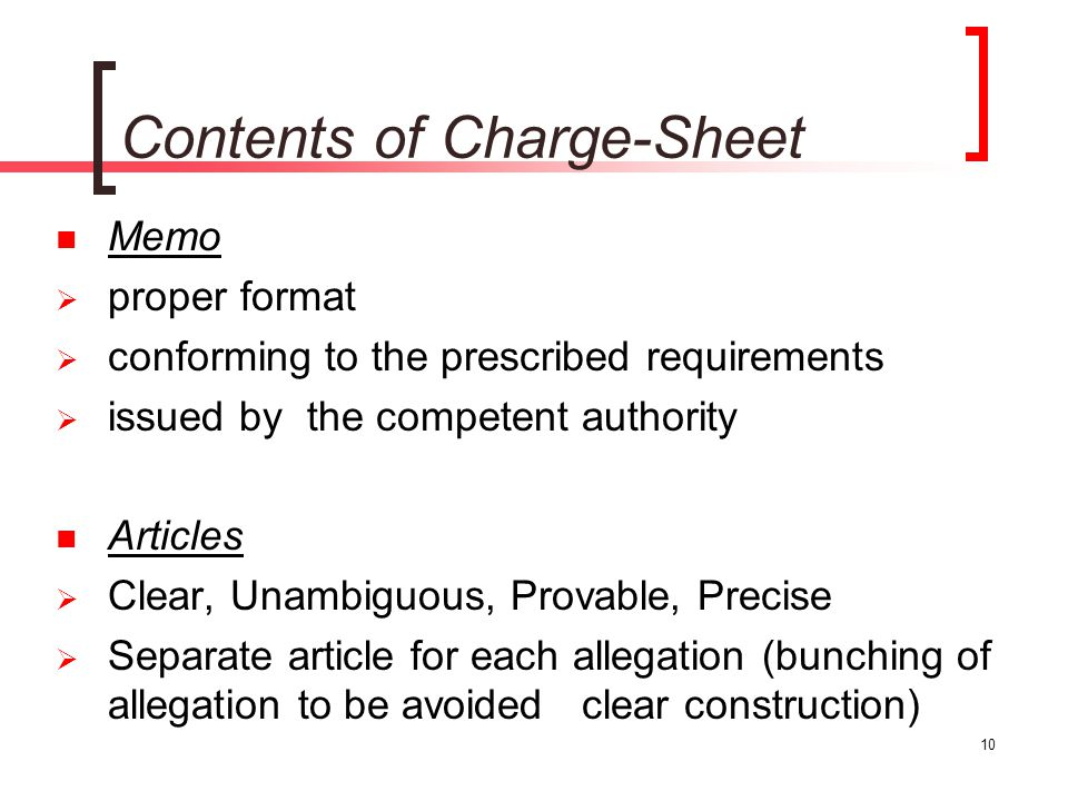 10 Contents Of Charge Sheet Memo Proper Format ...