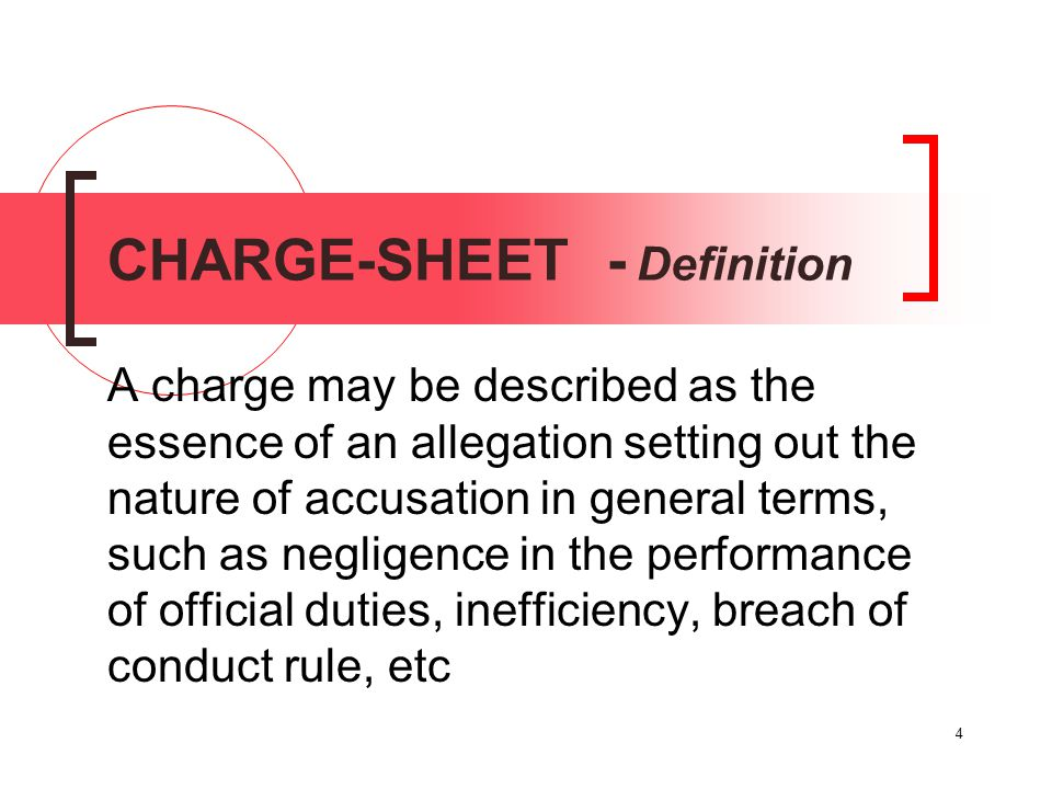 CHARGE-SHEET - Definition