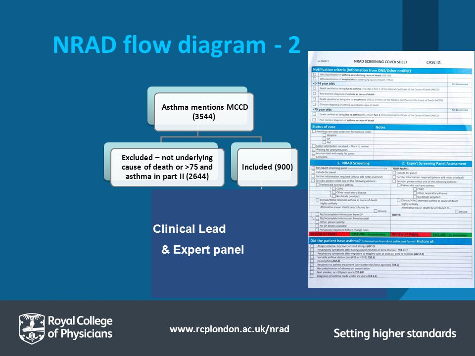 NRAD flow diagram - 2 Clinical Lead & Expert panel