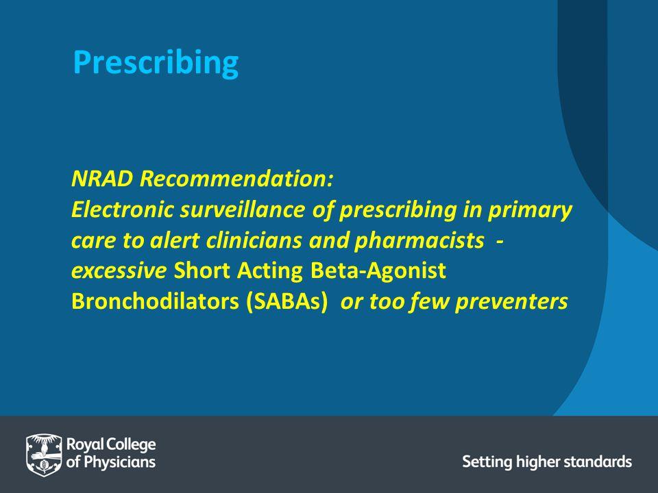 Prescribing NRAD Recommendation: